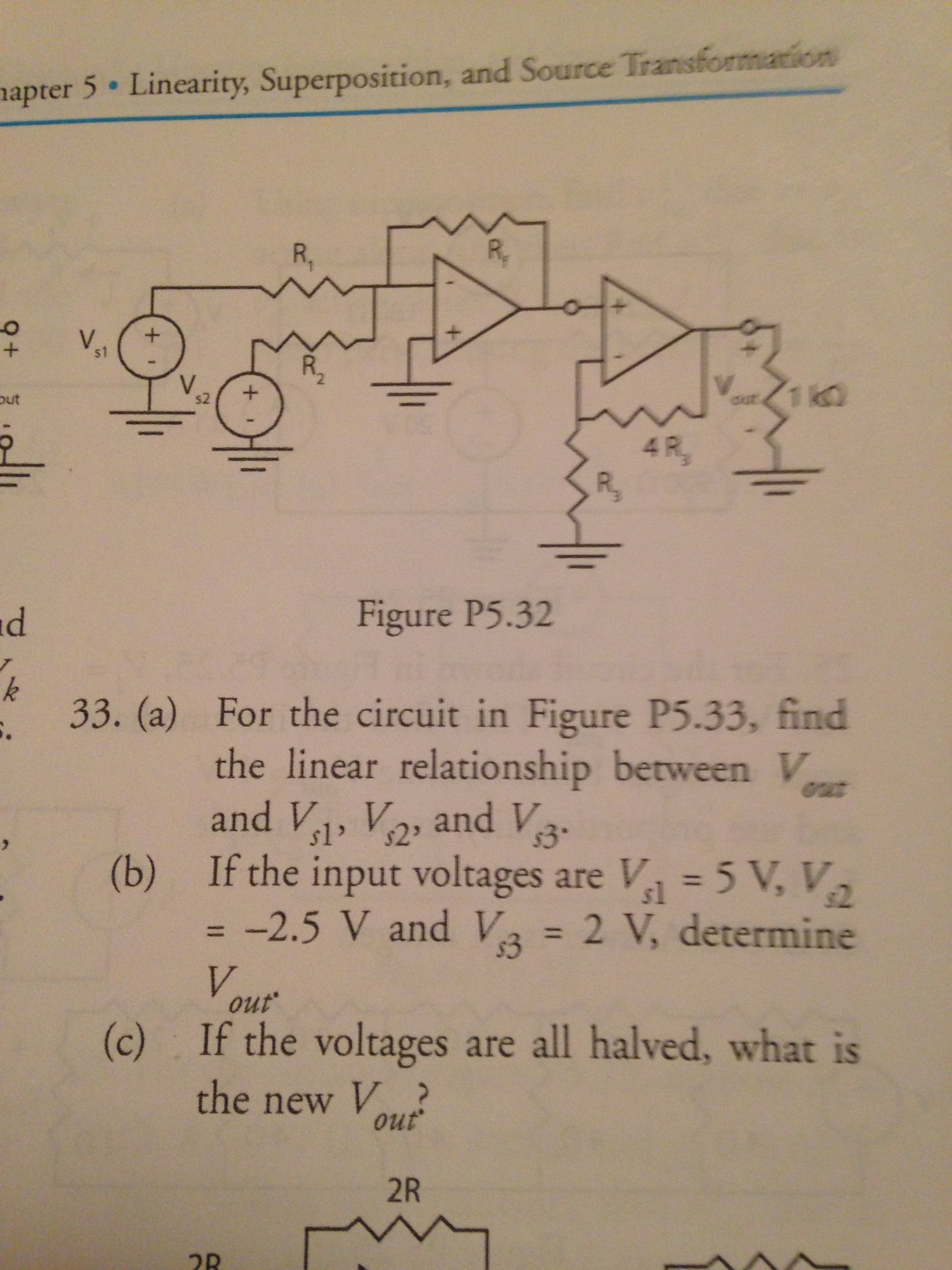 For the circuit in Figure P5.32 of the book, if R1