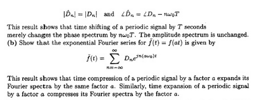 If a periodic signal f(t) is expressed as an expon