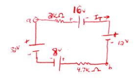 In the circuit below, use superposition to find to