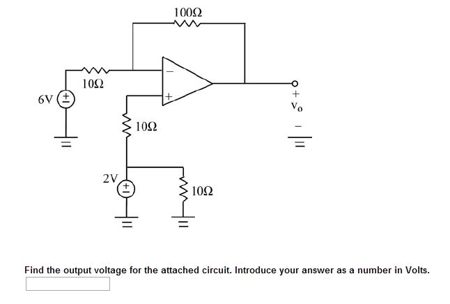 Find the output voltage for the attached circuit.