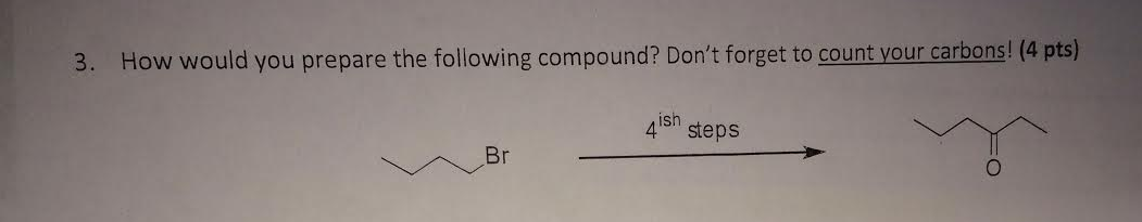 How would you prepare the following compound? Don'