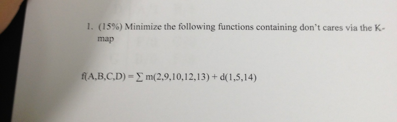 (15%) Minimize the following functions containing