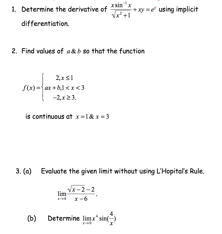 1. Determine The Derivative Of X Sin^-1x/ Square R...   Chegg.com