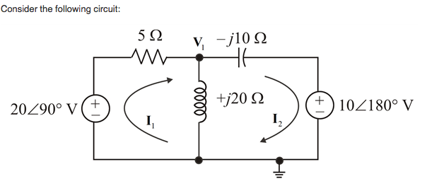 Consider the following circuit: