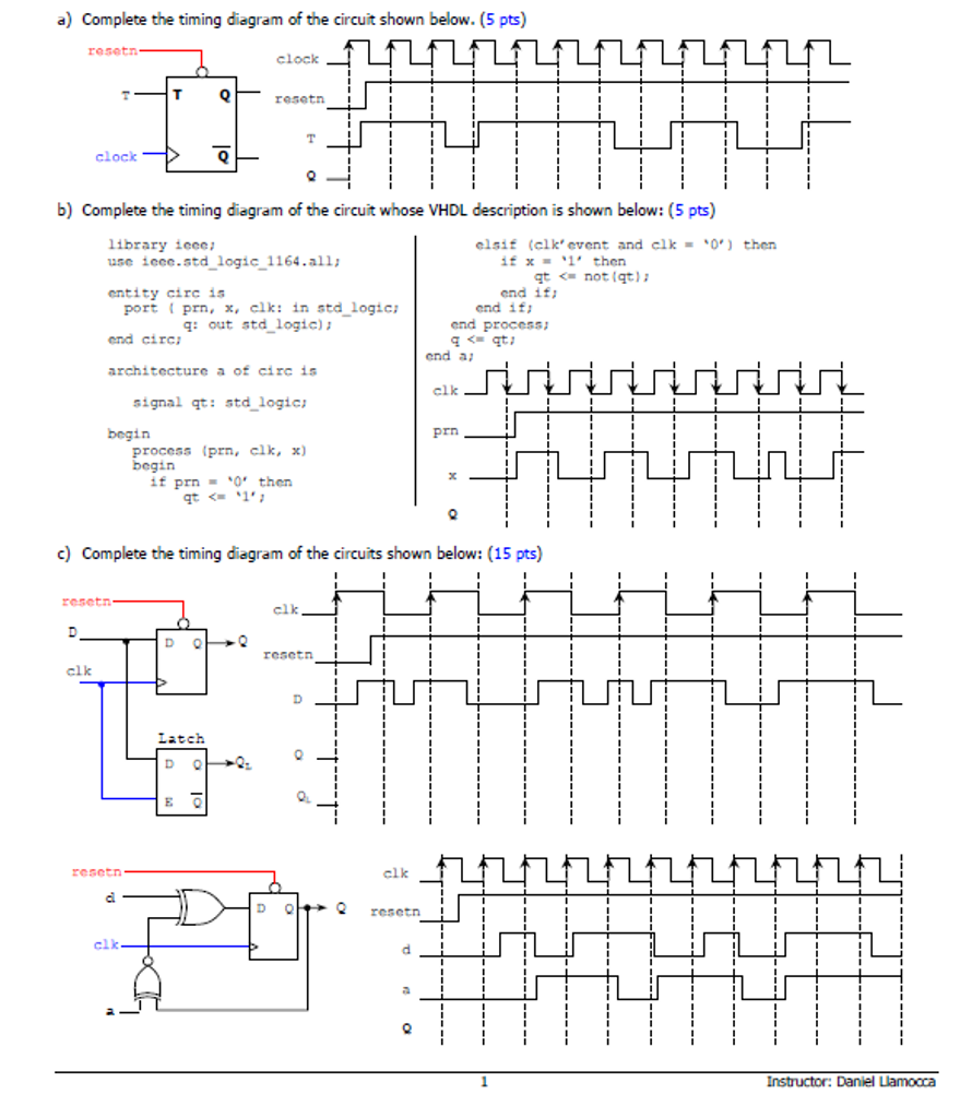 Complete the timing diagram of the circuit shown b chegg complete the timing diagram of the circuit shown b ccuart Images