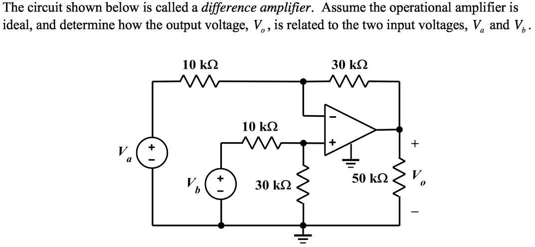 The circuit shown below is called a difference amp