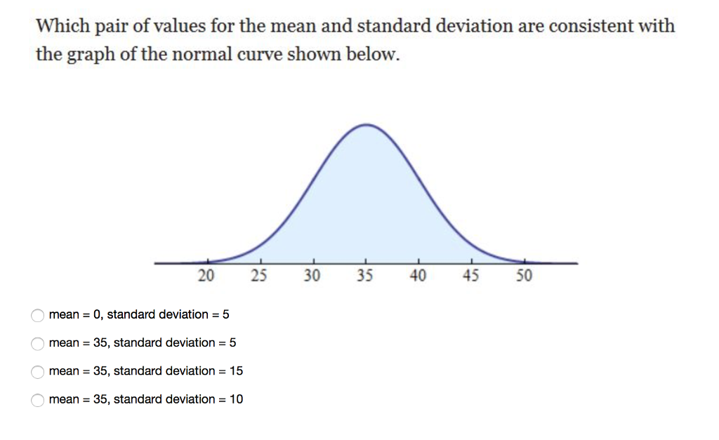 how to get standard deviation from mean