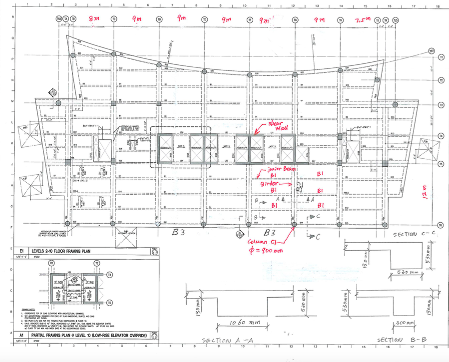 floor plan of the office. Show Transcribed Image Text Question 2 The Typical Floor Plan Of A 20-story Office Building Is As Shown In Following Figure. Storey Height, Top Y