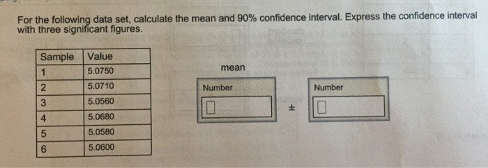 For the following data set calculate the mean and chegg image for for the following data set calculate the mean and 90 confidence interval ccuart Images