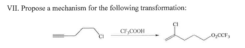 Propose a mechanism for the following transformati