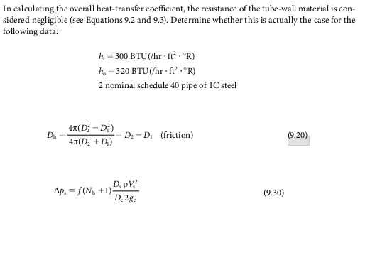 overall heat transfer