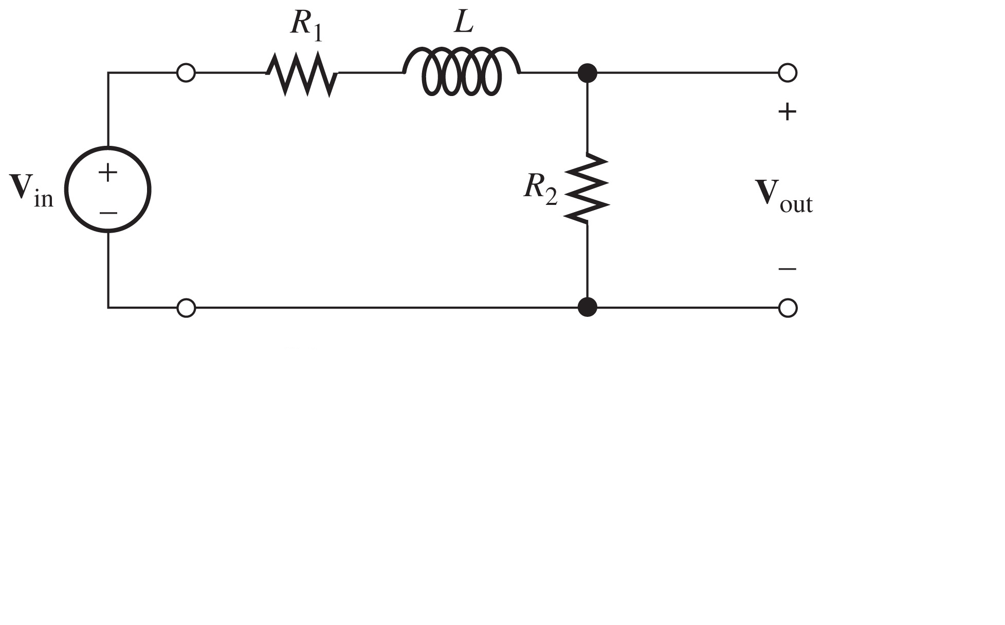 Determine the voltage Vout for the circuit shown