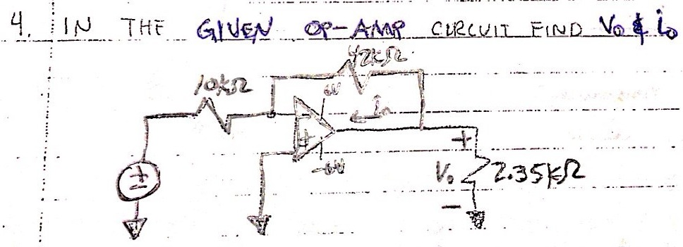 IN THE GIVEN OP-AMP CIRCUIT FIND VO