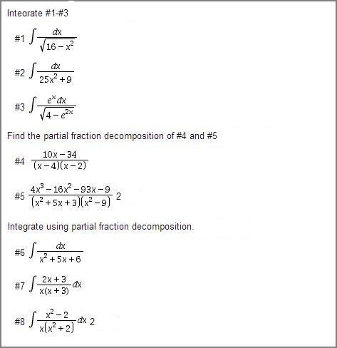 how to find the value using partial fraction