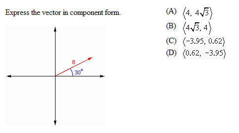 Express The Vector In Component Form. | Chegg.com