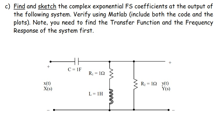 Find and sketch the complex exponential FS coeffic