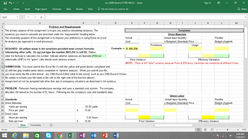 acc templates