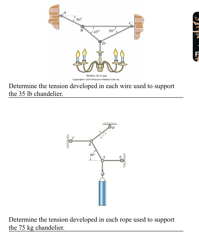 media%2Fd25%2Fd255005b c925 4c62 a7ad 859c2cddedca%2FphpL5Ndcw determine the tension developed in each wire used chegg com free body diagram for air resistance at reclaimingppi.co
