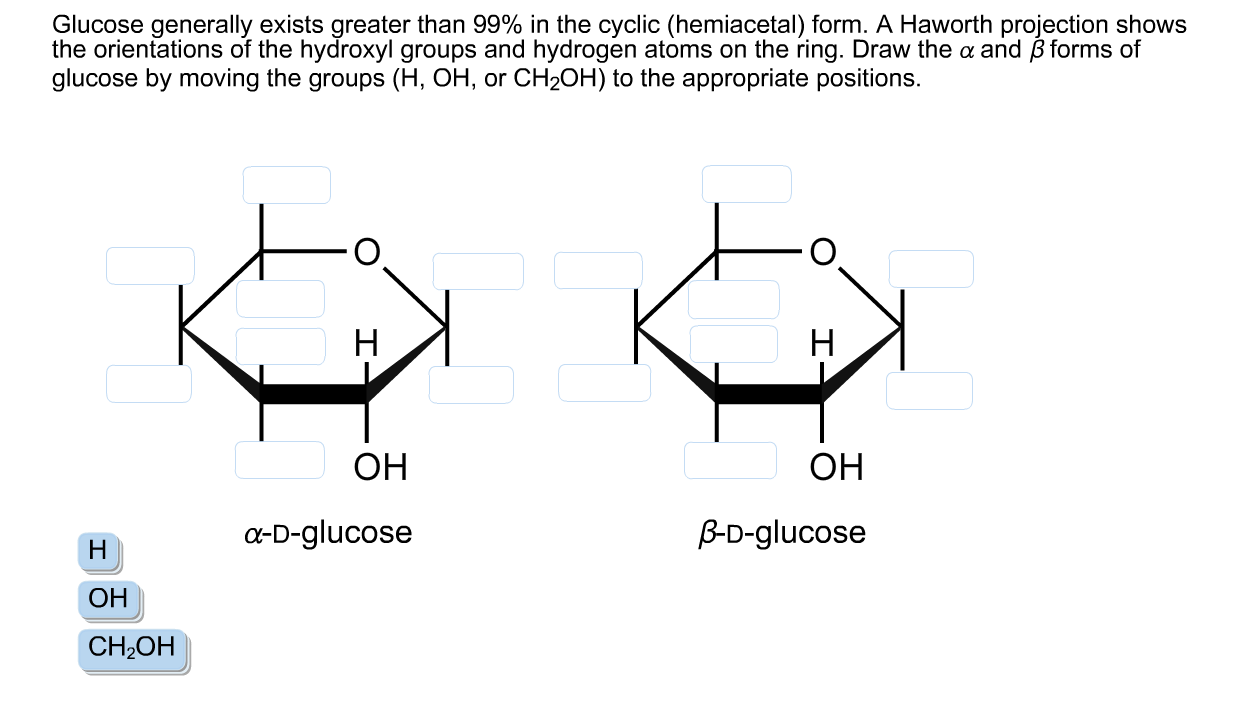 Glucose Generally Exists Greater Than 99% In The C... | Chegg.com