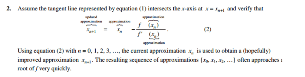 Solved Recall The Point Slope Form Of The Equation Of A L