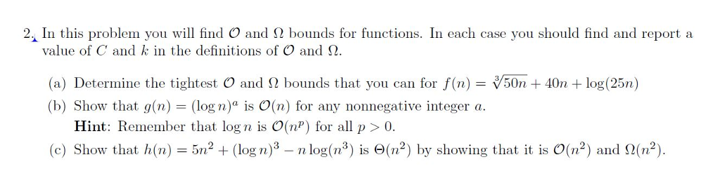 21 in this problem you will find o and bounds f chegg 21 in this problem you will find o and bounds for functions in each sciox Images