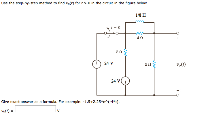 Use the differential equation approach to find v0(