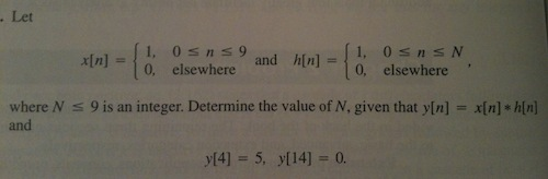 Let where N 9 is an integer. Determine the value