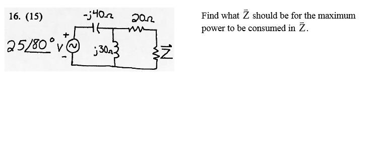Find what should be for the maximum power to be c