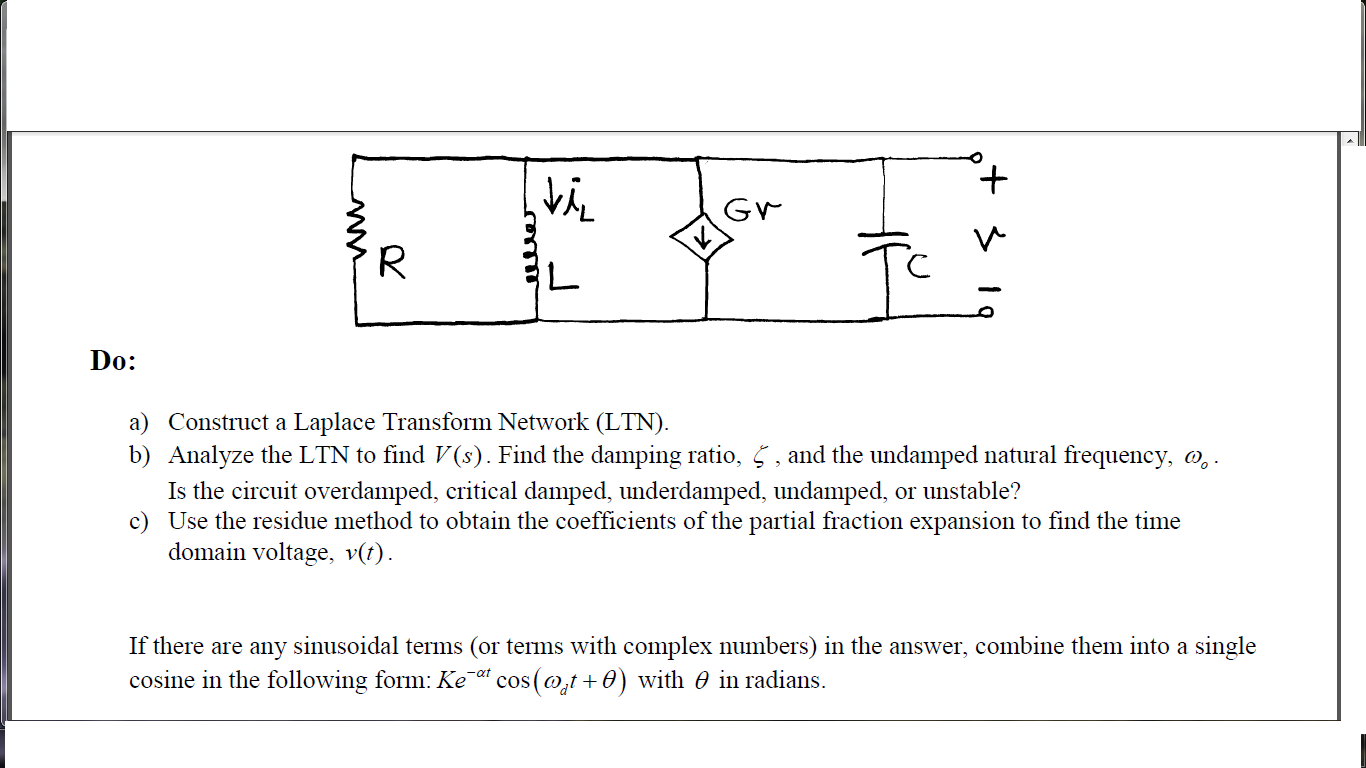 Construct a Laplace Transform Network (LTN). An