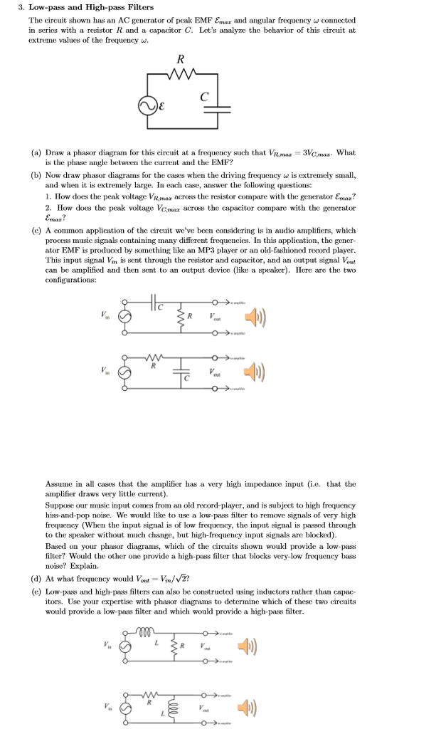 Solved: The Circuit Shown Has An AC Generator Of Peak EMF ...