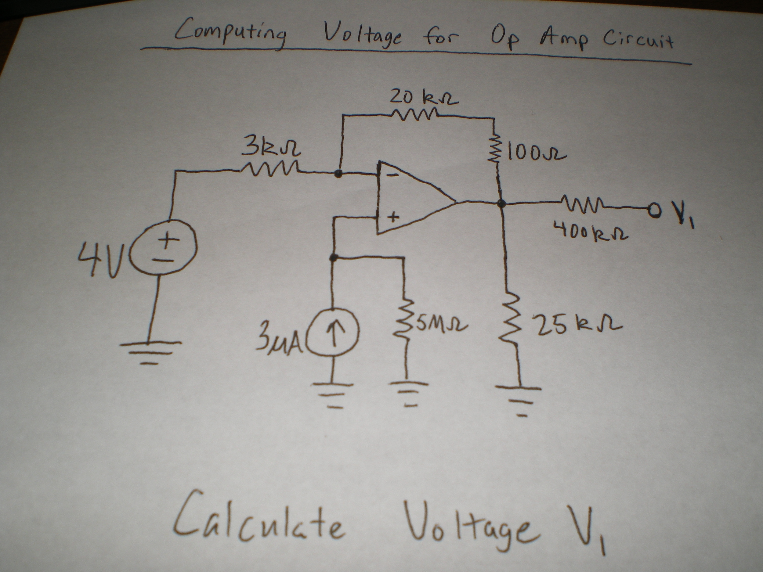 Computing Voltage for Op Amp Circuit Calculate Vo