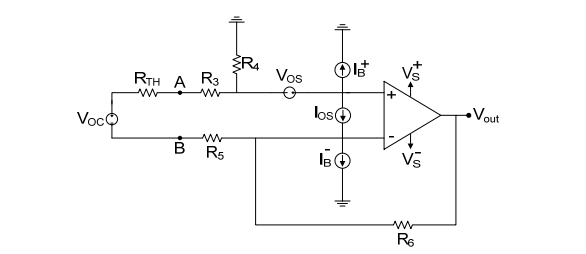 Derive the expression for the output voltage for e