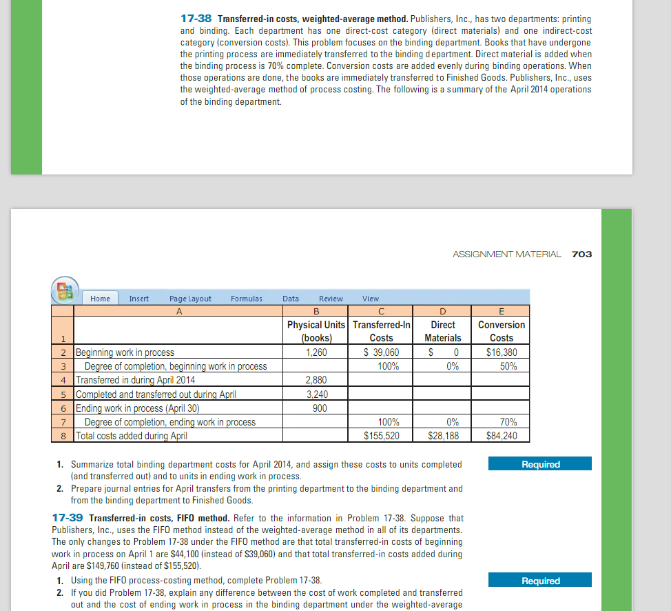 compare and contrast the fifo and weighted average methods of process costing In manufacturing facilities, equivalent units of production are calculated to determine the value of a department's work-in-process inventory at the end of an under the weighted average costing method, beginning wip is considered to be started and completed during the current period, regardless of when the units were.