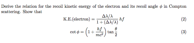 how to find kinetic energy of electron