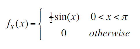 Sketch the following probability density function