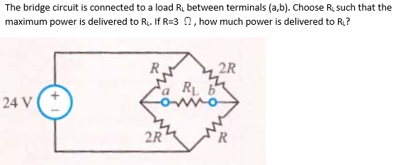 The bridge circuit is connected to a load RL betwe