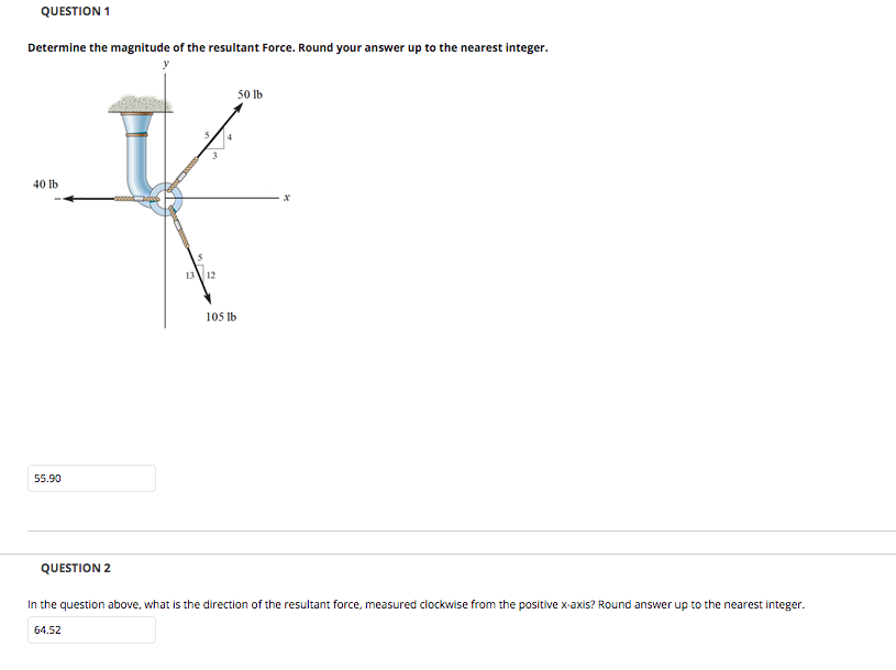 Determine the magnitude of the resultant force. Ro