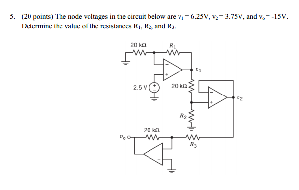 The node voltages in the circuit below are V1 = 6.