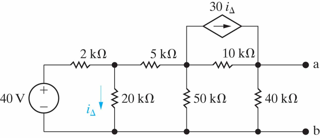 solved  find the thevenin equivalent circuit for the follo