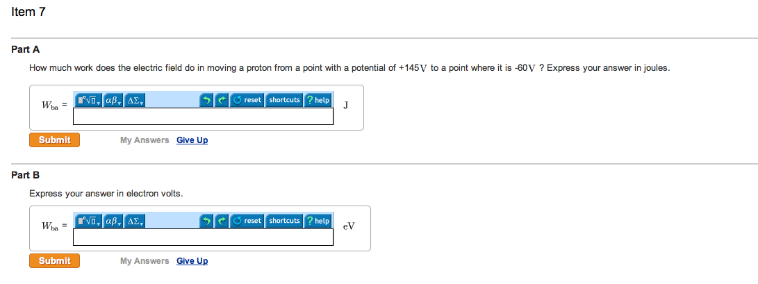 How much does the electric field do in moving a pr