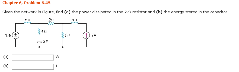 Given the network in Figure, find (a) the power di