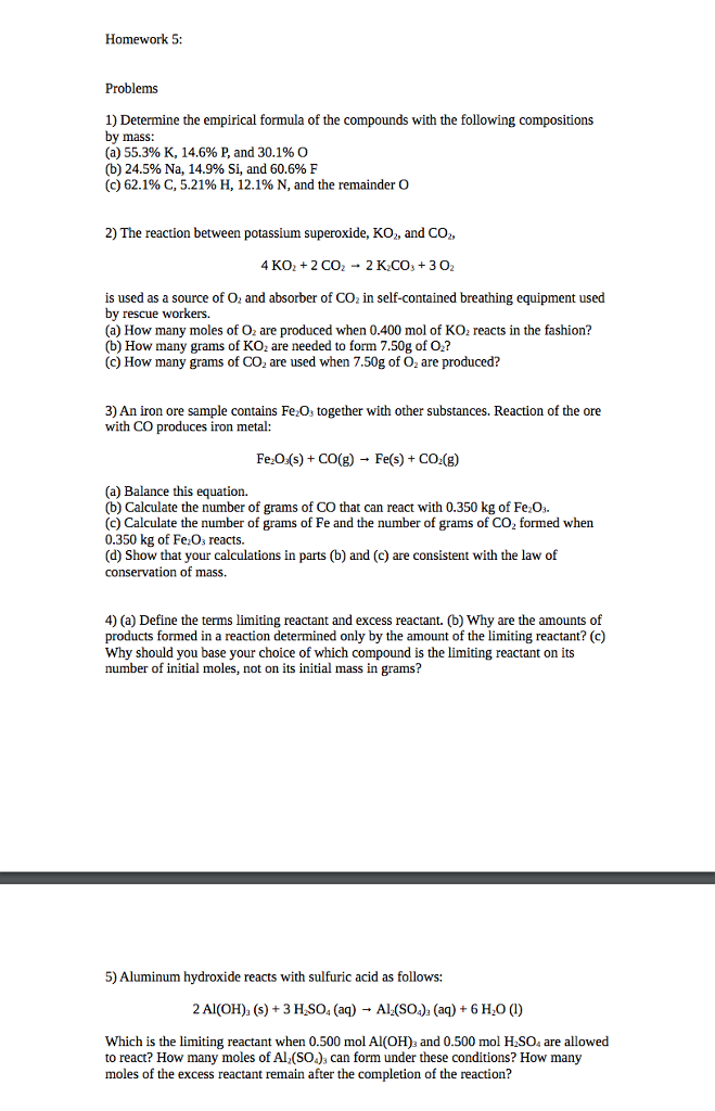 Conservation of Mass Chemistry Homework Worksheet by Science With ...