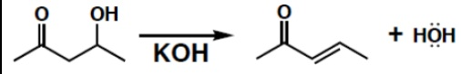 finish up the elimination of the ?-hydroxycarbonyl