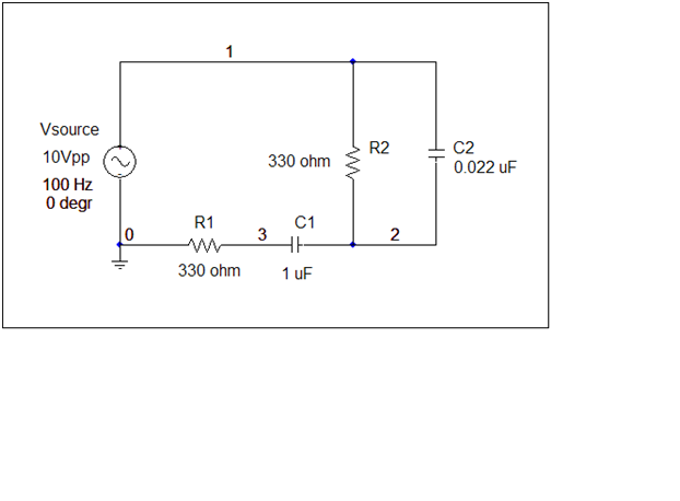 Calculate the RMS voltage through each component.