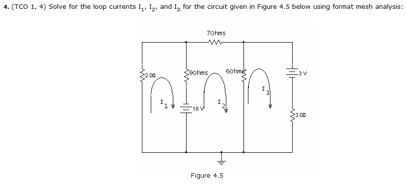 Solve for the loop currents I1, I2, and I3for the