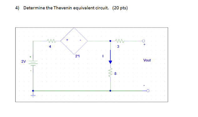Determine the Thevenin equivalent circuit.