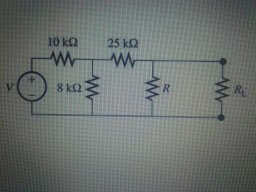 Assume that V=6.0V and R=7.0 kilo ohms Find the T