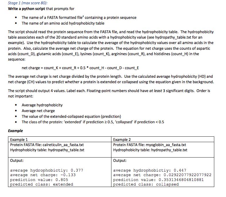 Stage 1 (max Score 80) Write A Python Script That ... | Chegg.com