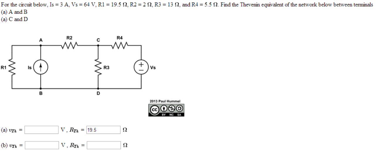 In the circuit below: VI = -1 V, V2 = 18 V, Is = 4