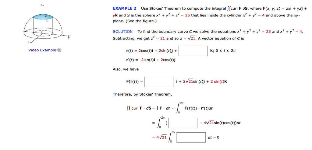 Solved: Use Stokes' Theorem To Compute The Integral Double ...